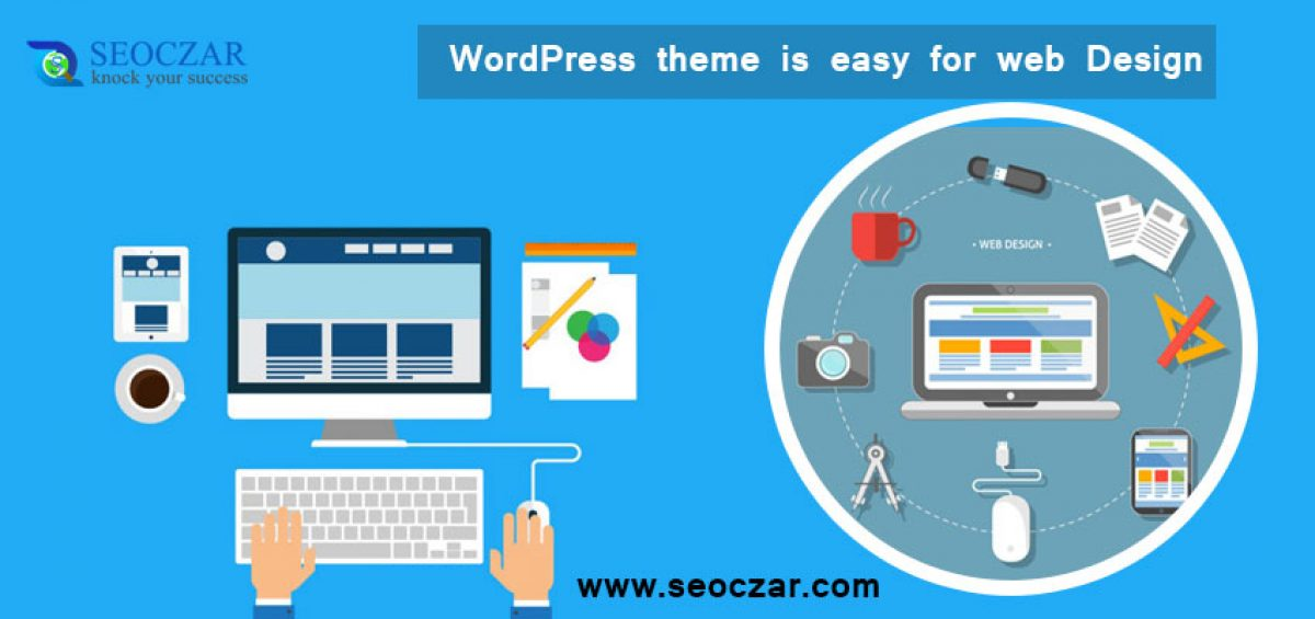WordPress theme is easy for web design