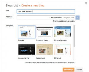How to name a blog on blogspot (1)