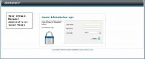 joomla administration login