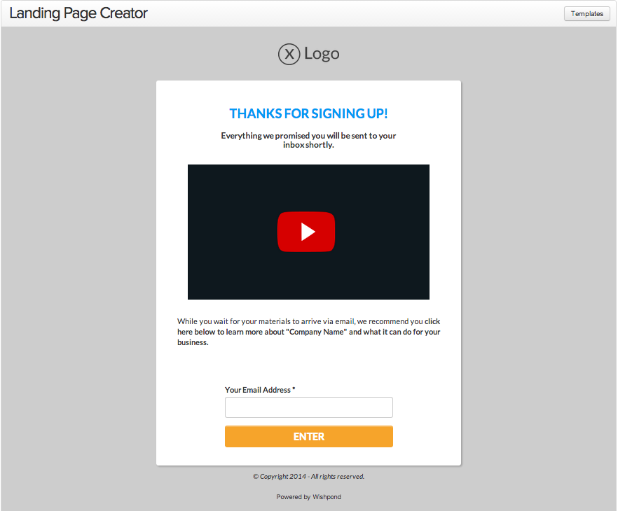 video embading in landing page:video marketing tips